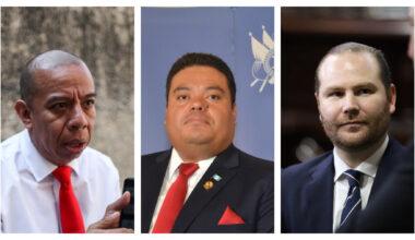 Aldo Dávila, Allan Rodríguez y Alvaro Arzú, diputados.